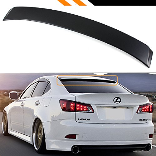 - Cuztom Tuning Fits for 2006-2013 Lexus is 250/350/ ISF F Sport VIP Style Rear Window Roof Top Spoiler