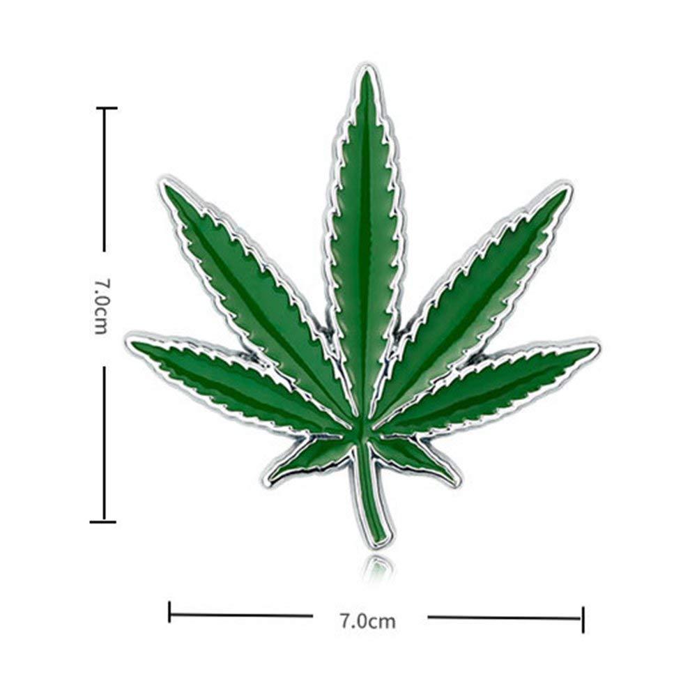 Yooce Marijuana Leaf 3D Metal Car Emblem Cannabis Weed Auto Badge Hemp Grass Vehicle Decal Pot Leaf Motorcycle Sticker