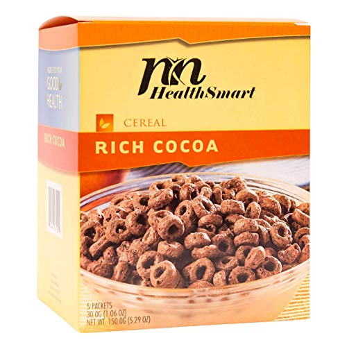 HealthSmart - High Protein Diet Cereal - Rich Cocoa - 15g Protein - Low Calorie - Low Carb - Low Fat - Gluten Free (5/Box)