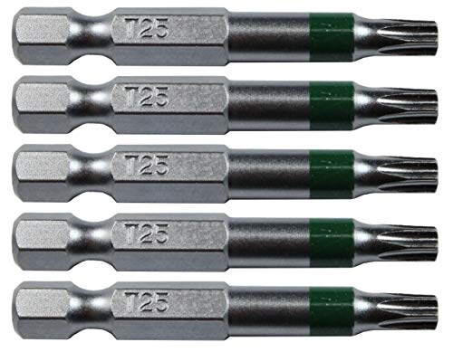 (T25 (T-25) Torx/Star Driver Bit Color Coded T25 Torx/Star Drive Quick Change Shank Bit for Screws and Fasteners Requiring T25 (T-25) Size Bits)