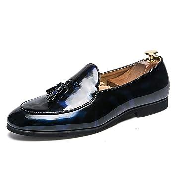 Xiazhi-shoes,, - Mocasines para Hombre Azul Turquesa 47 EU: Amazon.es: Hogar