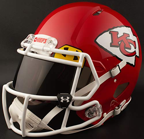 s City Chiefs Full Size NFL Speed Authentic Football Helmet ()