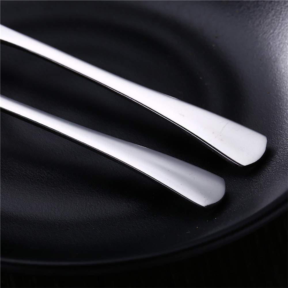 VANRA 5.3in 4-Piece Flatware Set Silver 18//10 Stainless Steel 2 Forks and 2 Spoons Set Salad Fork Teaspoon Cocktail Fork Coffee Spoon Serving Spoon Appetizer Fork 30000024