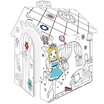 Casa de juegos de Cartulina Princesa Pappspielhaus para Pintar ...