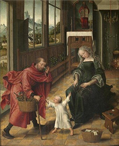 (Perfect Effect Canvas ,the Imitations Art DecorativePrints On Canvas Of Oil Painting 'Master Of The Legend Of The Magdalen - The Holy Family, 16th Century', 20x25 Inch / 51x62 Cm Is Best For Home Theater Decor And Home Decor And Gifts)