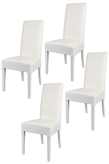 Tommychairs   4er Set Moderne Stühle Luisa Für Küche Und Esszimmer,  Struktur Aus Lackiertem Buchenholz