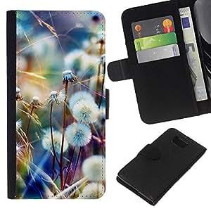 KLONGSHOP // Tirón de la caja Cartera de cuero con ranuras para tarjetas - Primavera Verano Naturaleza - Samsung ALPHA G850 //