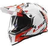 LS2 Helmets Pioneer Trigger Adventure Off Road Motorcycle Helmet with Sunshield (Red, XXX-Large)