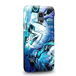 Case88 Premium Designs Vocaloid Miki Hatsune Miku 1170 Protective Snap-on Hard Back Case Cover for Samsung Galaxy S5 mini