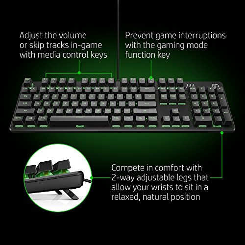 hp pavilion wired usb gaming keyboard 500 black green best tech deals resources. Black Bedroom Furniture Sets. Home Design Ideas