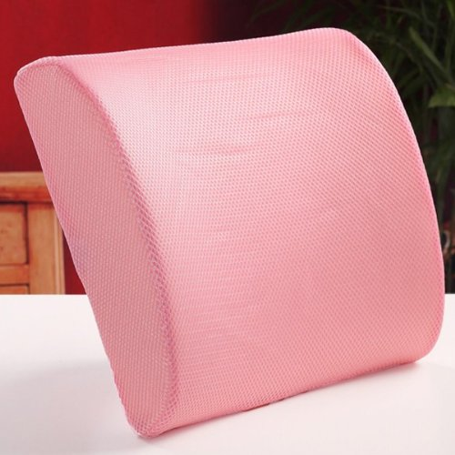 Excellent Pink Memory Foam Lumbar Back Support Cushion Pillow Home Office Car Seat Chair by EXCELLENT SHOPPING (Image #1)