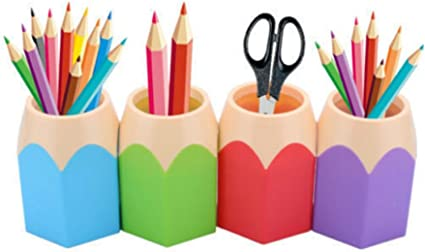 Demarkt Stiftek/öcher Stiftbeh/älter Stiftebox Stiftbecher Schreibtisch Organizer,B/üroszubeh/ör Stiftehalter Stiftest/änder Feder Pot Bleistifte Lila