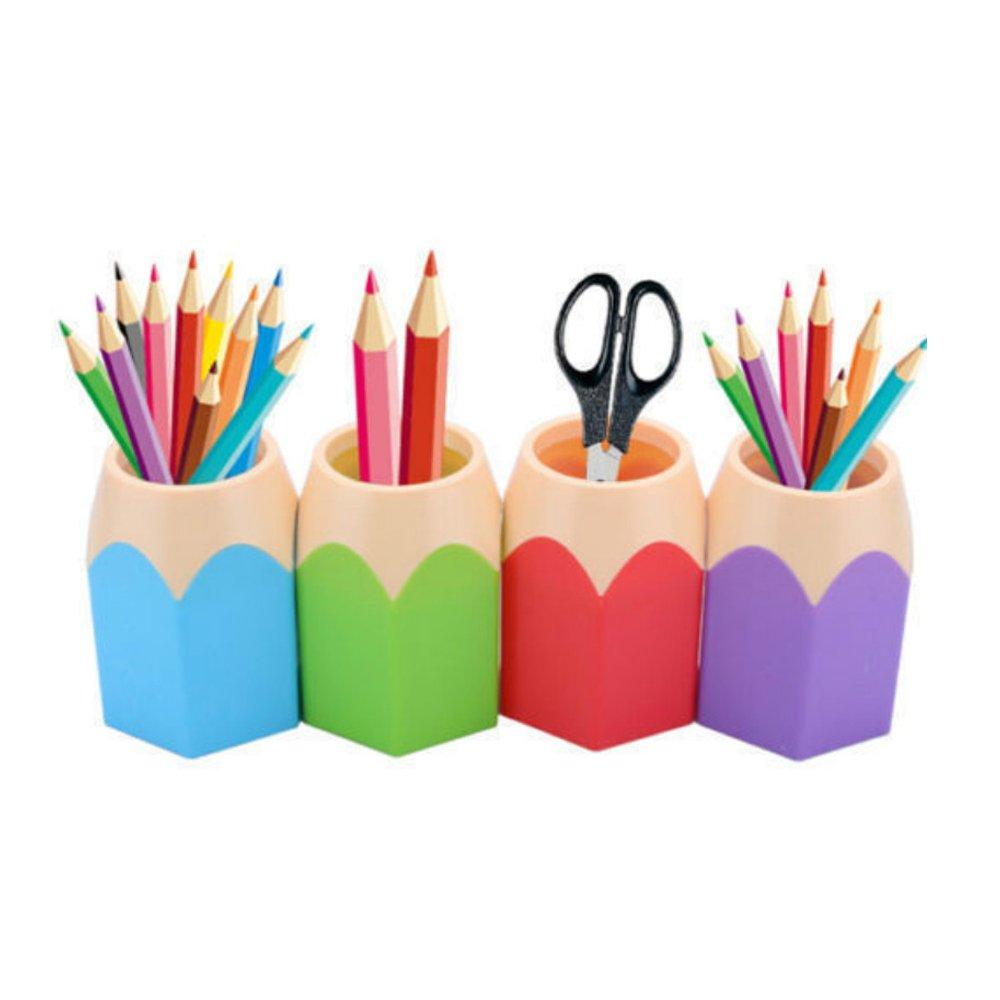 Portalápices de escritorio 1 unidad diseño de lapicero plástico: Amazon.es: Libros