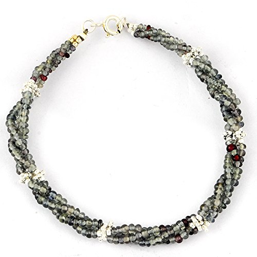 Orchid Jewelry 35 Ct Multi Color Beads Sapphire 925 Sterling Silver Bracelet for Women: Nickel Free Cute and Simple Birthday Gift for Mother and Wife