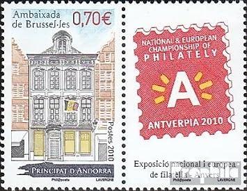 Prophila Collection Andorra - francés Correos Michel.-No..: 713Zf con Ornamento (Completa.edición.) 2010 Embajada (Sellos para los coleccionistas): Amazon.es: Juguetes y juegos