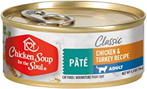 Chicken Soup for the Soul Pet Food - Adult Cat Food - Chicken & Turkey Pate | Soy, Corn & Wheat Free, No Artificial Flavors or Preservatives
