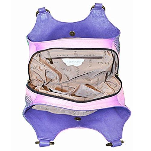 Design top Painted on Hand Anna Real Flamingo Free Leather by Hobo Quality Med Purse Anuschka Handbag Purse Holder Top U Tropical U4wYA