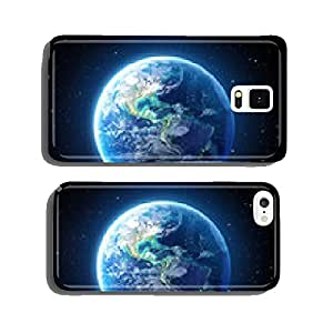 blue earth view from moon surface - Usa cell phone cover case iPhone5