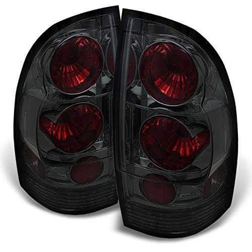 (For Toyota Tacoma Pickup Truck Rear Tail Lights Signal Brake Lamps Pair Smoked Completed Set)