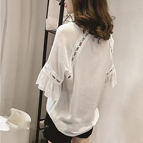 Long Sleeve Blouse Shirt Women Clothes 2017 Autumn Korean Style V neck Solid S-4XL Large Size Female Tops at Amazon Womens Clothing store: