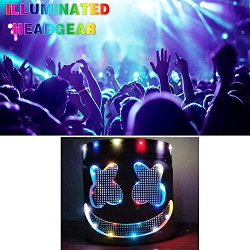 Little Luxuries Marshmallow - Mask Neon -Flashing Headgear Stage Performance Mask Helmet Music Festival Props Glowing Marshmallow Without - Masks Masquerade Unicorn Half Mask Luxury Children Male Bundles Dinosaur That
