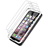[3 PACK] iPhone 6 / iPhone 6S Screen Protector, LK [Tempered Glass][Case Friendly] DoubleDefence Technology [Alignment Frame Easy Installation] [3D Touch] with Lifetime Replacement Warranty