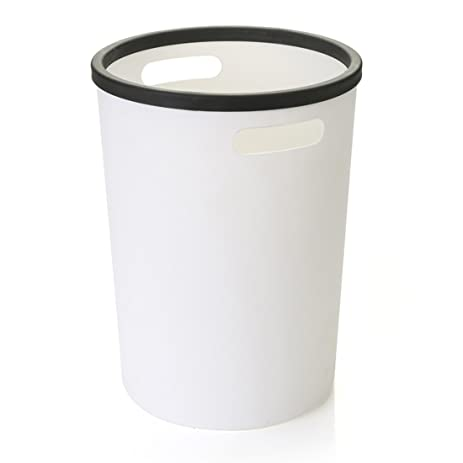 Marvelous Trash Can Without Lid, WOLFBUSH Kitchen Wastebasket With Pressing Ring  Plastic Garbage Bin Bathroom Office