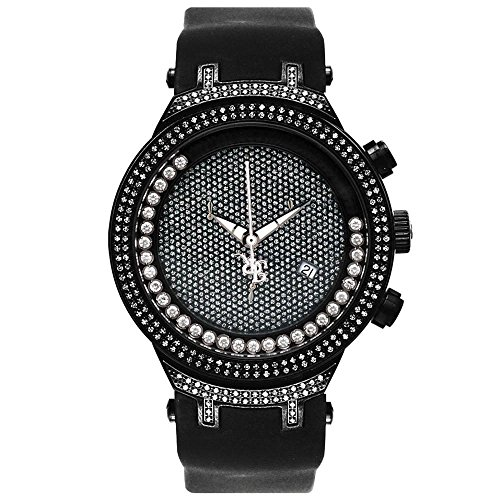 Joe Rodeo JJMS7(W) Master Man Diamond Watch, Black Dial