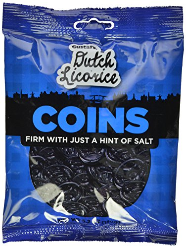 Gustaf's Dutch Licorice Coins, 5.2-Ounce Bags (Pack of 12)