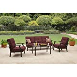Better Homes and Garden Carter Hills Outdoor Conversation Set, Seats 5 – Red Review
