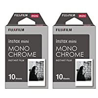 Fujifilm Instax Monchrome Instant Film 2 Pack For Mini 8 Cameras 20 Sheets