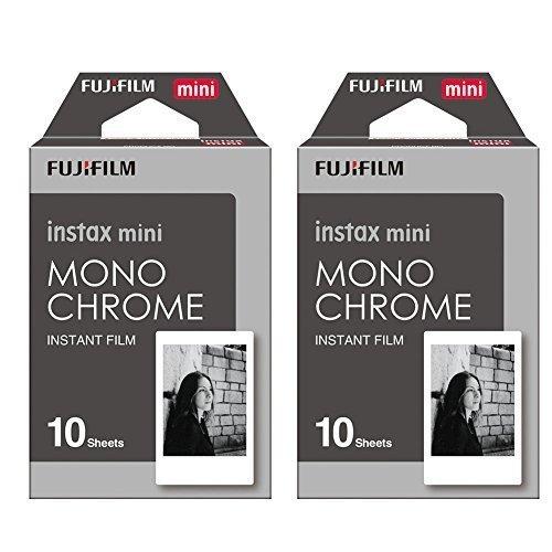 Fujifilm Instax Monchrome Instant Film 2 Pack For Mini 8 Cameras 20 Sheets