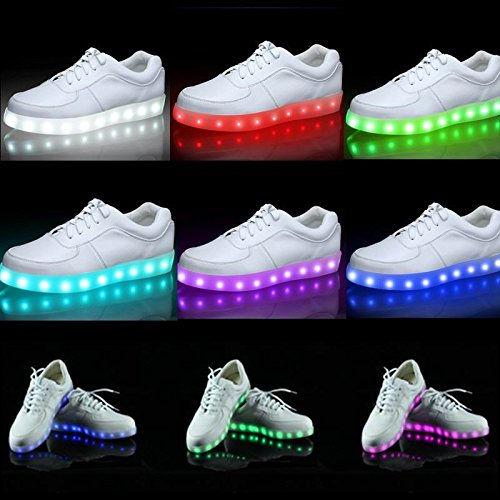 ACEVER Womens USB Charging LED Lighted Shoes Sneakers (US6/EU37/UK4/CHN37-Women) DSW2aWZ