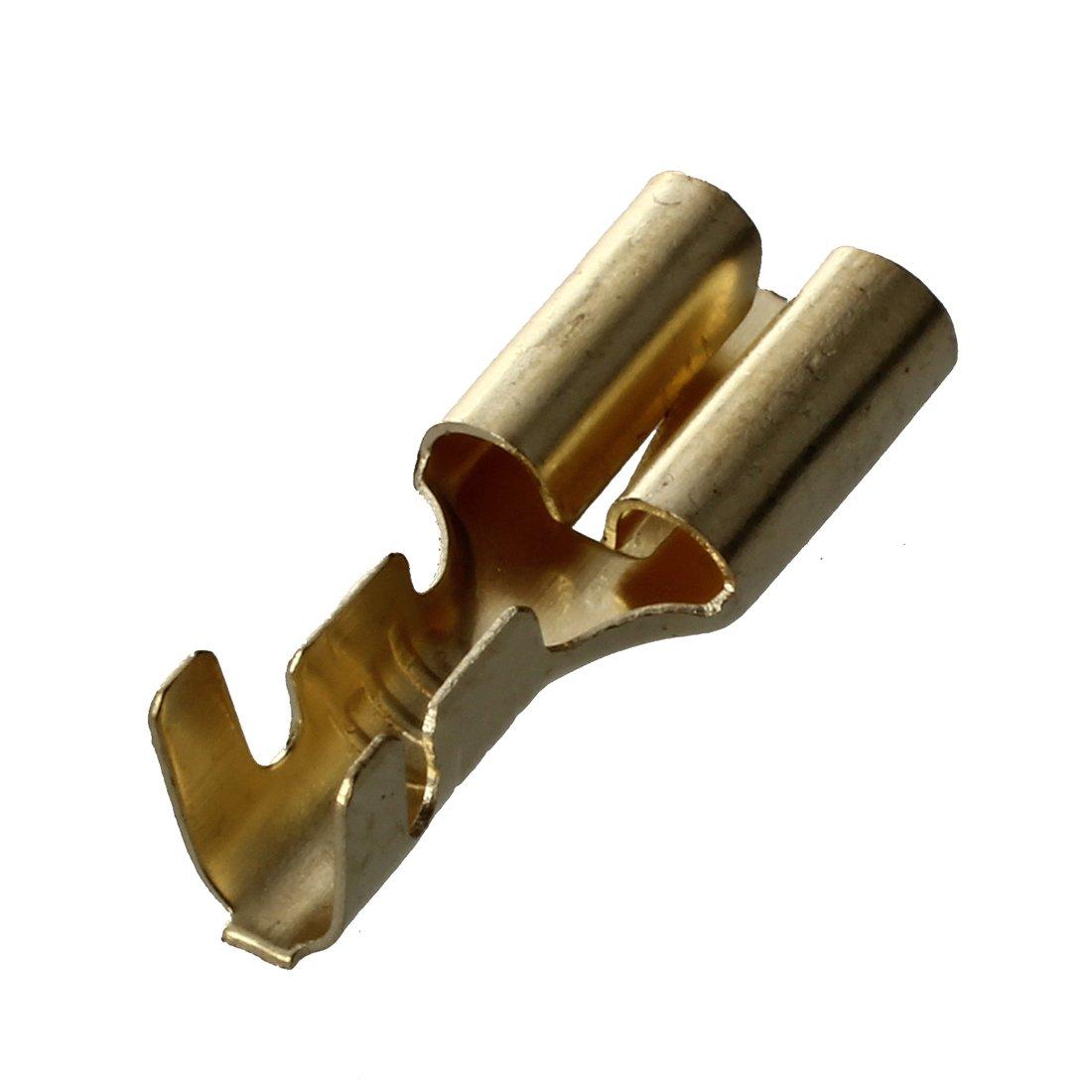 SODIAL(R) Set 3 polig Stecker Steckverbinder Flachstecker 6.3mm ...