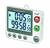 "Thomas 5017 Traceable Flashing LED Big-Digit Dual Channel Timer, 3"" Width x 3.5"" Height x 5/8"" Thick"