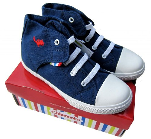 Teenies2TEENZ - Baskets montantes garçon/fille Chipmunks en toile Pointure 20-31 - Bleu, 29