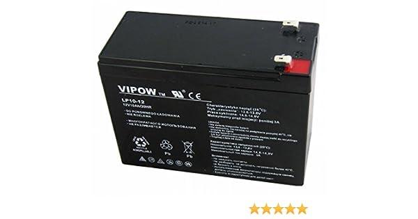 Vipow - Batería de Movilidad 12V 10Ah Para silla de ruedas eléctrica. Bateria de ciclo profundo de gel. Pila recargable: Amazon.es: Bricolaje y herramientas