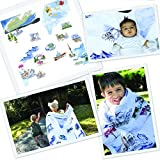 "Baby Blanket""The North"" 8 Layers Luxury Bamboo Organic Cotton Toddler Boy Girl"