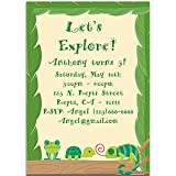 Amazon kids lizard invitations fill in style 8 pack toys games reptile and frog birthday party invitations filmwisefo
