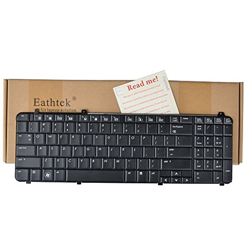 Eathtek Replacement Keyboard for HP Pavilion DV6-1054CL DV6-1122US DV6-1230US DV6-1234NR DV6-1238NR DV6-1240US DV6-1243CL DV6-1244SB DV6-1245DX DV6-1247CL DV6-1250US DV6-1253CL DV6-1259DX DV6-1263CL DV6-1268NR DV6-1280US DV6-1334US DV6-1350US DV6-1351NR DV6-1352DX DV6-1353CL DV6-1354US DV6-1355DX DV6-1359WM DV6-1360US DV6-1361SB DV6-1362NR DV6-1363CL DV6-1375DX DV6-1378NR Series Black US Layout