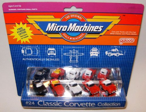 Micro Machines Classic Corvettes #24 B - Corvette 24 Coupe Scale