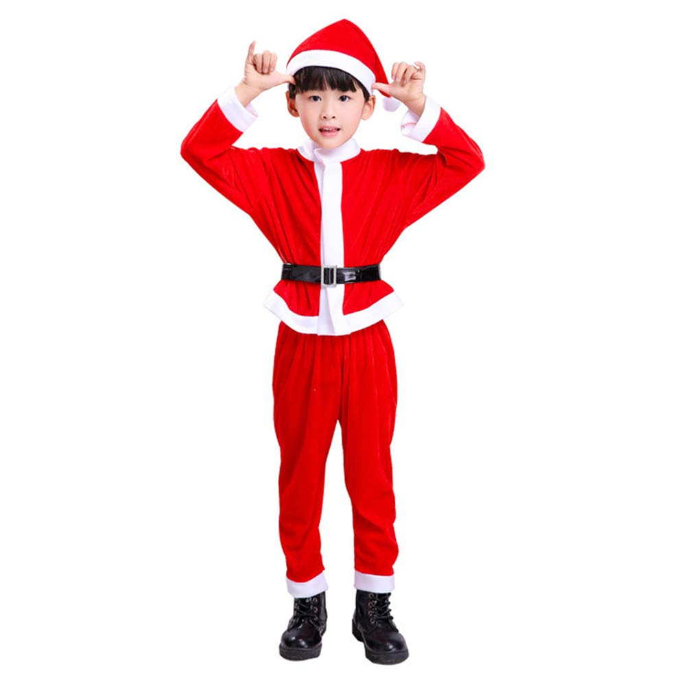 0d824cba76b7f Aofocy 1Set Baby Boys Christmas Santa Suit with Hat Baby Party Outfit Santa  Clause Costume Christmas Outfit 100CM: Amazon.co.uk: Clothing