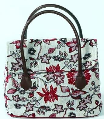 87f37b9ad43b9 MONTEGO Handtasche aus strapazierfähigem Gobelin mit exotischem floralem  Dessin Sander BAGS+MORE