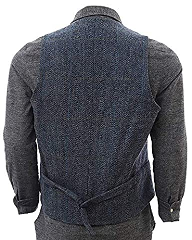 Biddy Murphy Irish Tweed Vest Traditional Plaid Pattern 100/% Irish Tweed from Tipperary Made in Ireland John Hanly