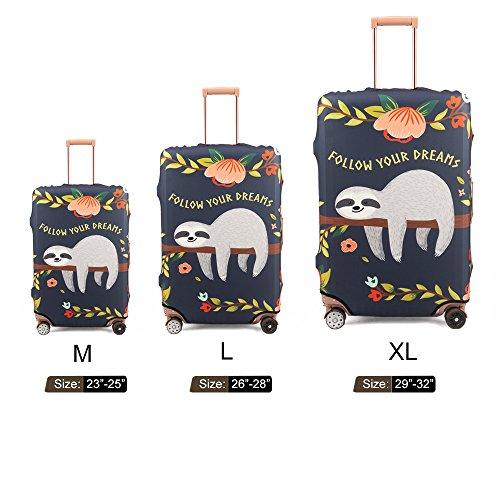 Madifennina Spandex Travel Luggage Protector Suitcase Cover Fit 23-32 Inch Luggage (sloth, XL) by Madifennina (Image #6)
