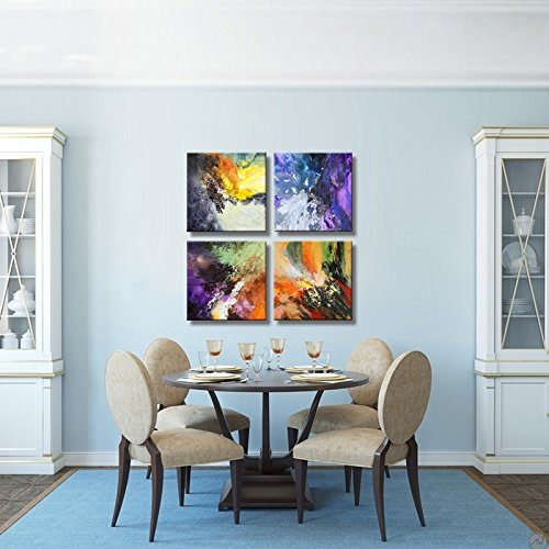 Sunrise Art-Canvas Prints Original Colorful Abstract Painting on Canvas Modern Abstract Cosmos Canvas Art for Living Room by SUNRISE ART (Image #8)