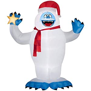 Gemmy Christmas Inflatable Colossal 12ft Bumble with Star Rudolph The Red Nosed Reindeer Character