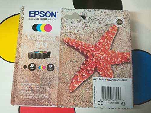 Epson Multipack 4-Colours 603 - Cartucho de tinta: Amazon.es: Oficina y papelería