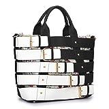 MKY Extra Large Tote Bag Designer Shoulder Handbag Buckle Details w/Removable Shoulder Strap Brown