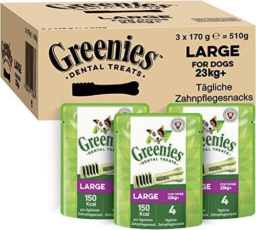 Greenies Original Zahnpflegesnacks für verschiedene Hundegrößen – Hundeleckerli zur täglichen Zahnreinigung, verschiedene Packungsgrößen